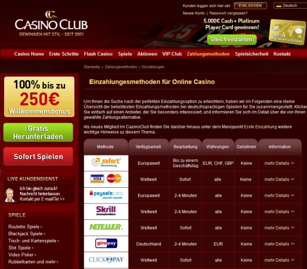 city club casino auszahlung