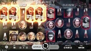 Planet of the Apes Freespins Trigger