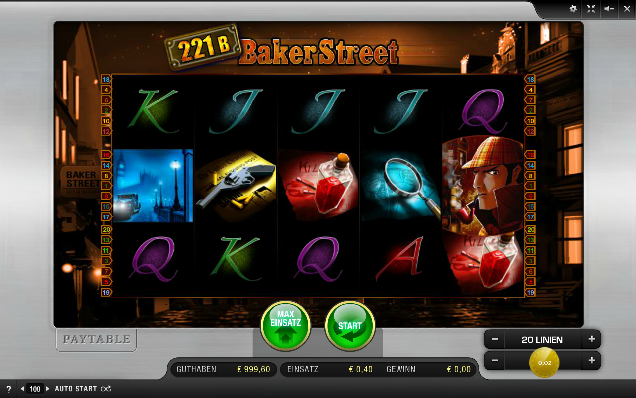 221 B Baker Street - Rizk Casino