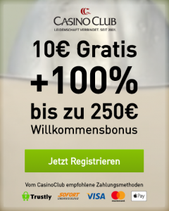 Casino Club Startbonus