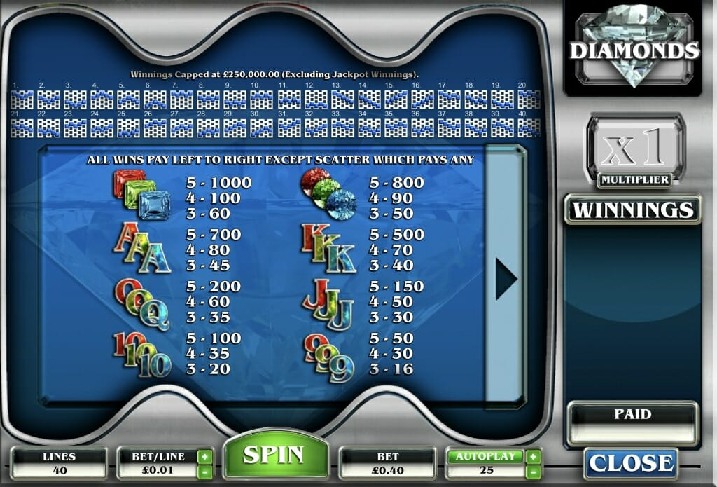 Diamonds Slot