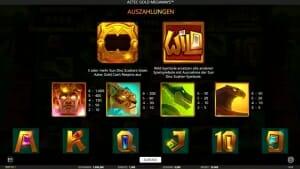 Aztec Gold Megaways Gewinne