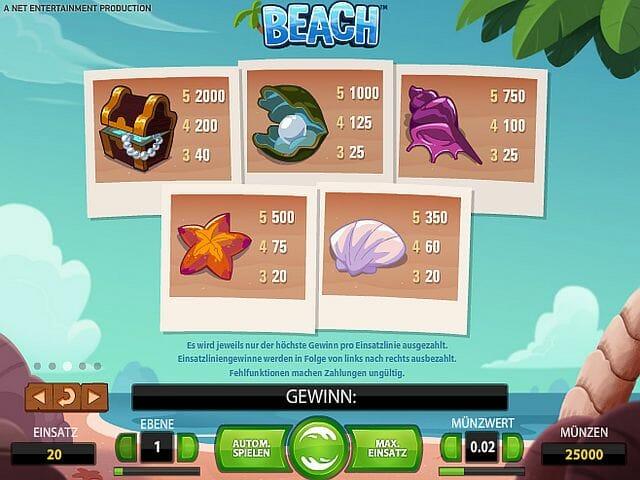 beach-tabelle