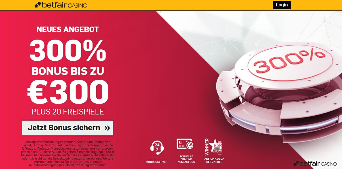 Betfair Angebot