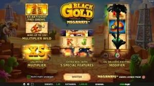 Black Gold Megaways Besonderheiten