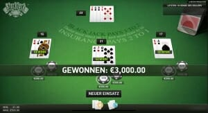 black jack surrender 2 1 vollgewinn