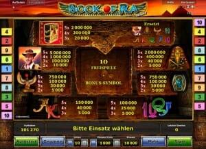 book of ra deluxe gewinntab