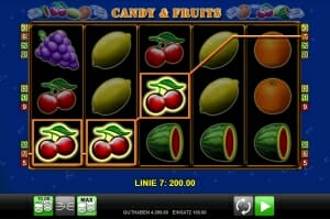 candy and fruits gewinn