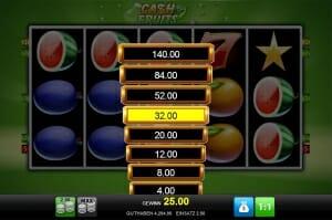 cash fruits plus risikoleiter