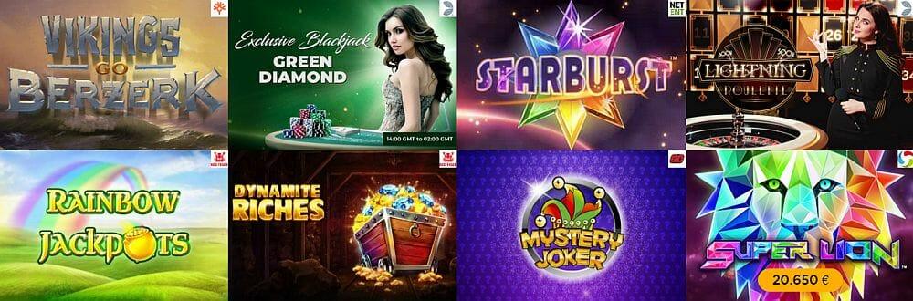 Casino Cruise Spielauswahl