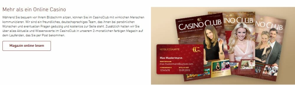 Casino Club VIP Angebot