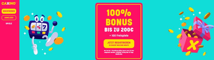 Jetzt Caxino Bonus 2020 sichern