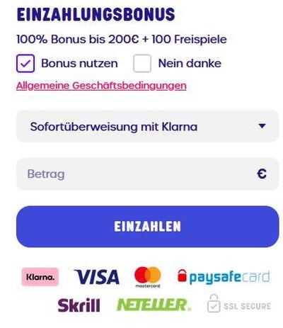 Caxino Zahlungsmethoden
