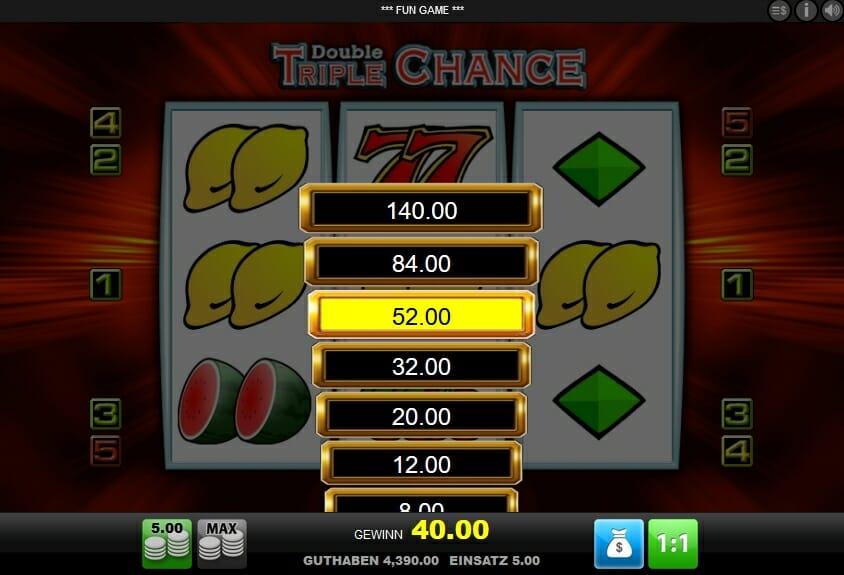 Double Triple Chance Online Casino