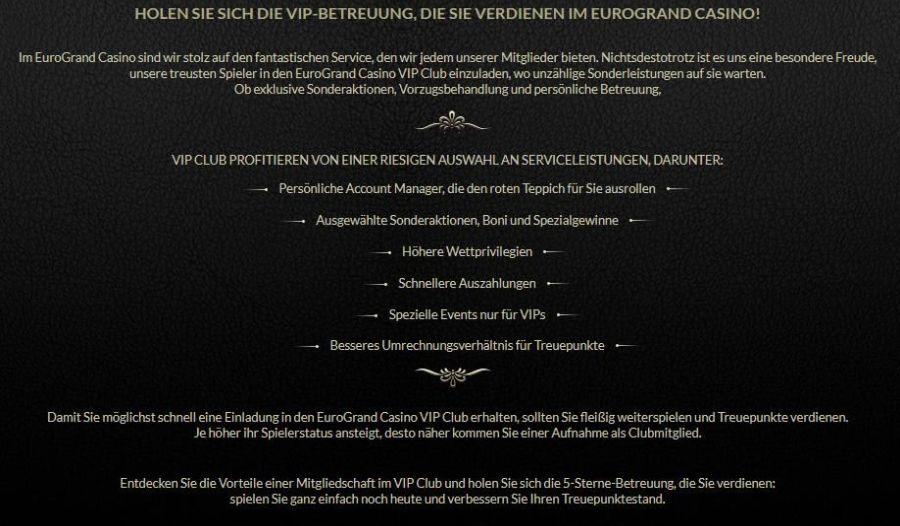 Eurogrand VIP Programm