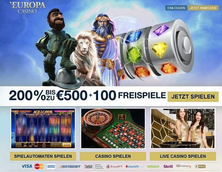 Europacasino-Bonus