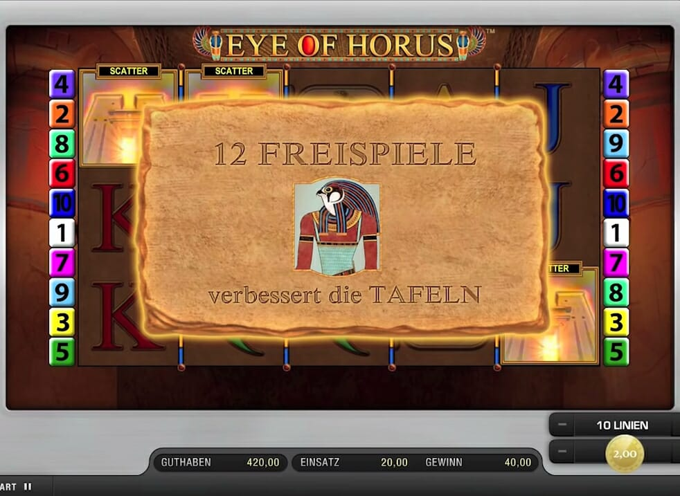 Eye of Horus Freispiele