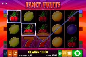 fancy fruits gewinn