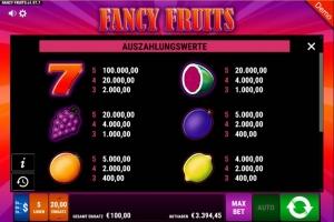 Fancy Fruits Vorschau Gewinne