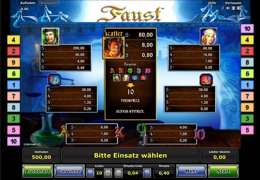 online casino spielgeld faust