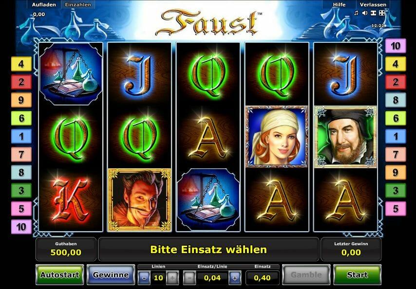 online internet casino faust online