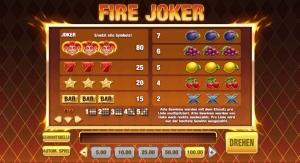 Fire Joker Vorschau Auszahlungen