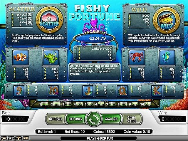 fishy-fortune-tabelle