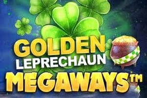 Golden Leprechaun Megaways Slot Logo