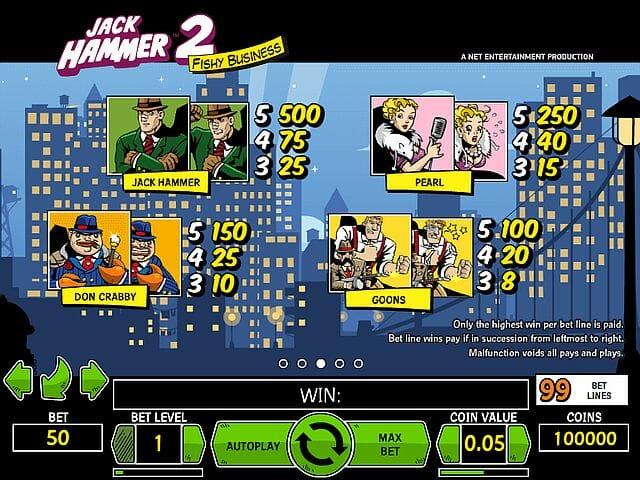 jack hammer online casino