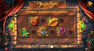 Jingle Spin Gewinne
