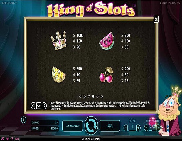 king-of-slots-gewinntabelle