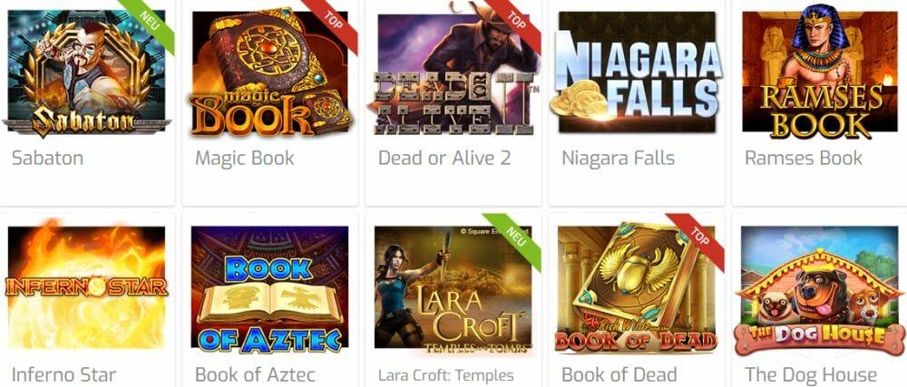 Lapalingo Casino Spielauswahl
