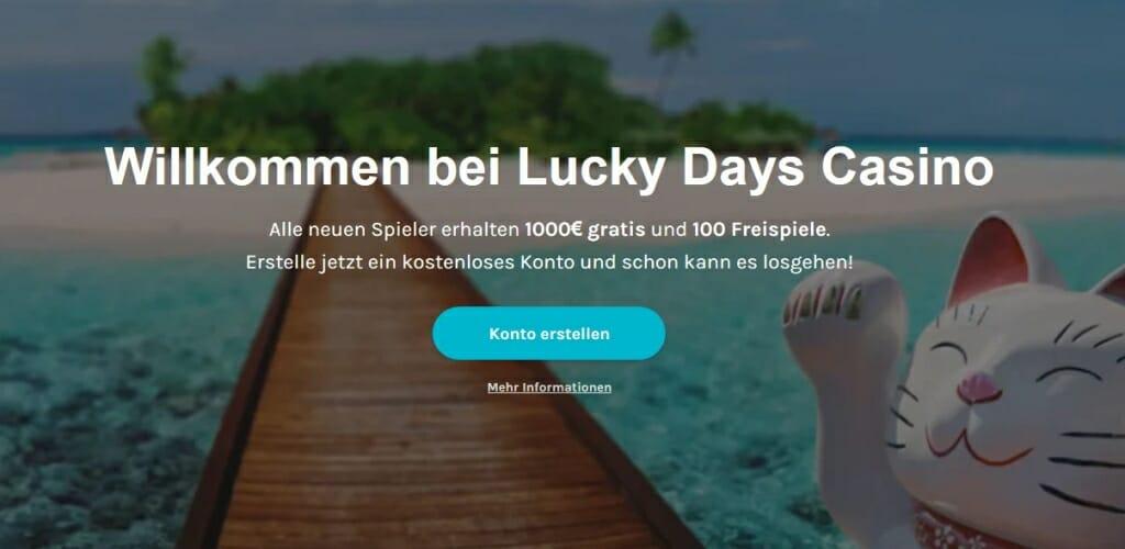 LuckyDays Startguthaben