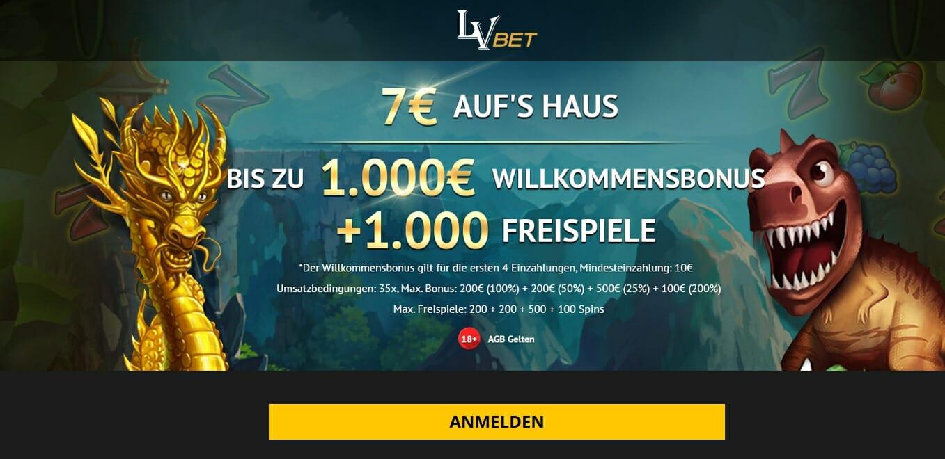 LV Bet 7 Euro Bonus
