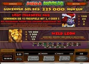 Mega Moolah Freispiele