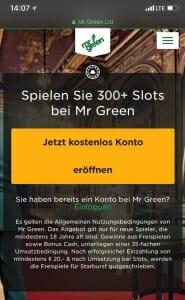 Mr Green Mobil