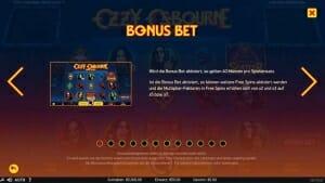 Ozzy Osbourne Slot Bonus
