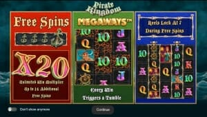 Pirate Kingdom Megaways Bonus