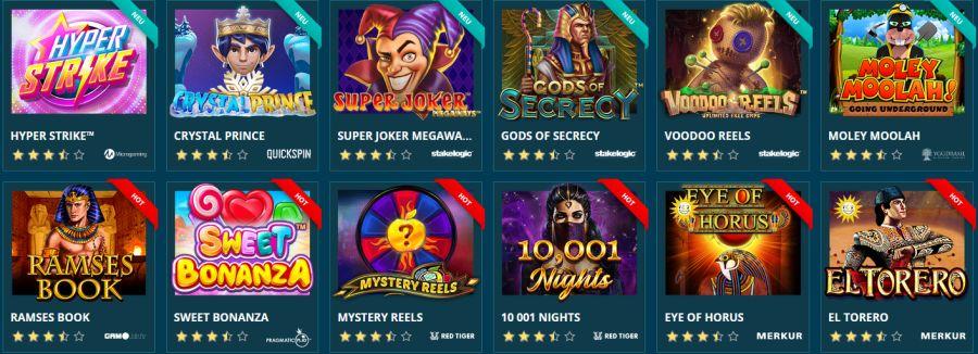 Platin Casino Spiele 2021
