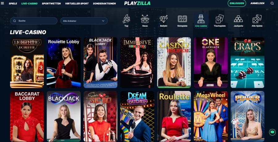 Playzilla Startseite