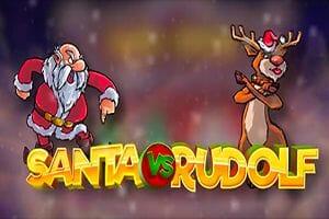 Santa vs Rudolf Logo