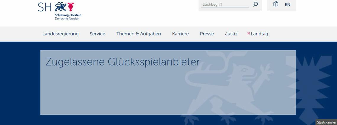 Schleswig-Holstein zugelassene Anbieter