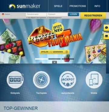 sunmaker live casino bonus