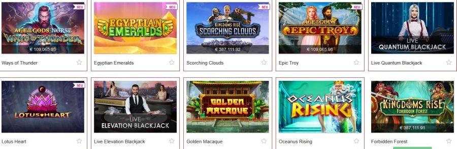 Swiss Casino Top Spiele