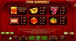 Twin Happiness Gewinnsymbole