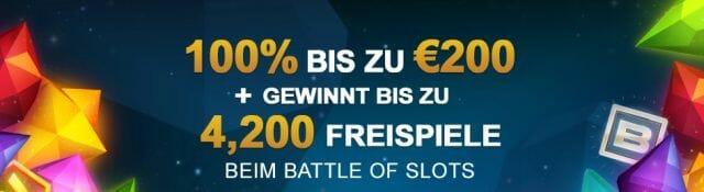 Videoslots Bonus 2019: 200€ + 11 Freispiele