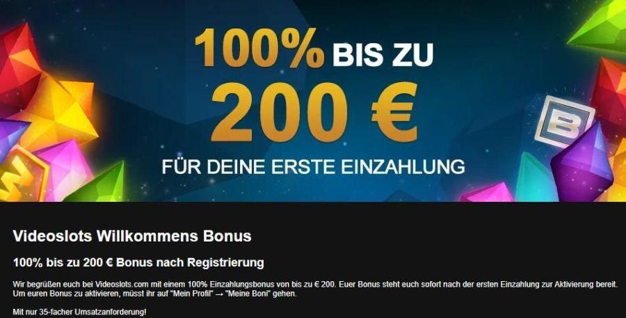 Videoslots Casino Bonus 2021