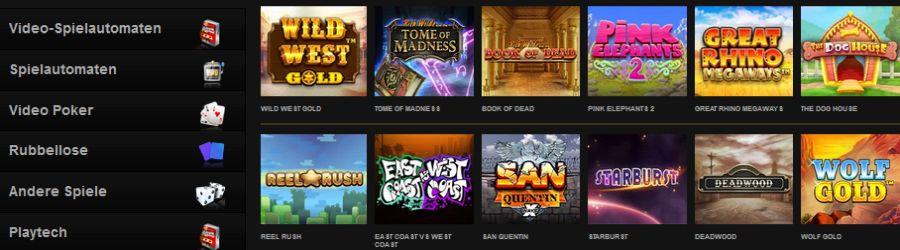 Videoslots Casino Spiele 2021