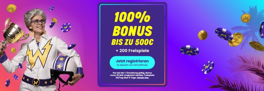 Wildz Casino jetzt Startguthaben sichern