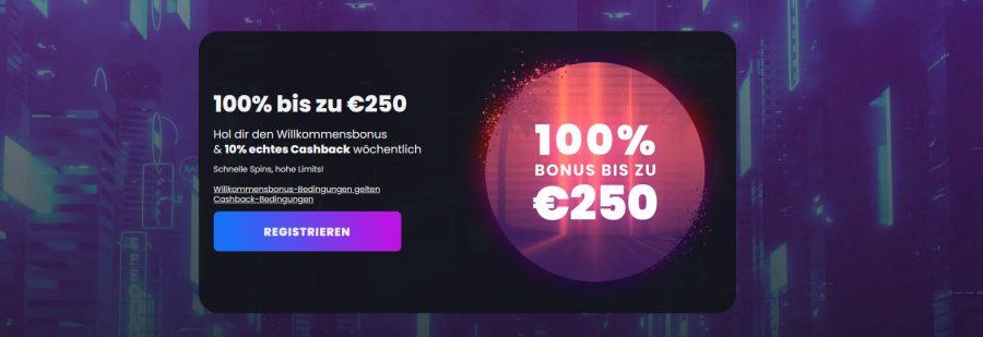 Winny Casino Willkommensbonus 2021